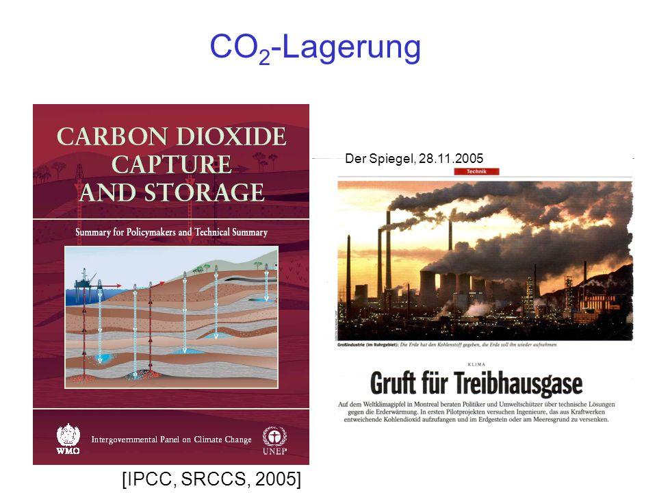 CO2-Lagerung Der Spiegel, 28.11.2005 [IPCC, SRCCS, 2005]